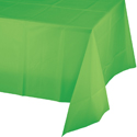 Citrus Green Plastic Table Covers - 12 Count