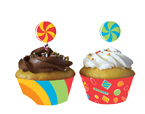 Sugar Buzz Cupcake Wrappers & Picks
