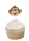Monkey Themed Cupcake Toppers
