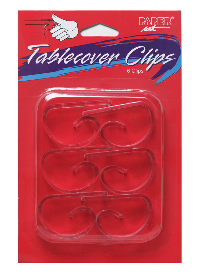 Clear Plastic Table Cover Clips
