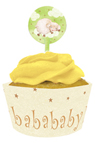 Little Lambs Cupcake Wrappers with Picks