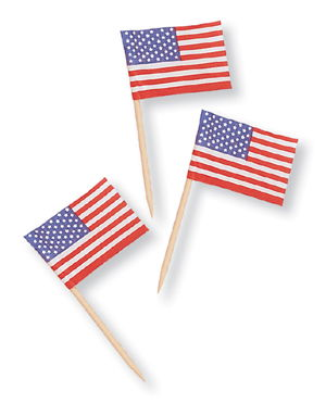 4th of July Food Picks - American Flags