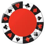 Card Night Reusable Round Trays