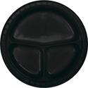 Black Divided Plastic Banquet Dinner Plates