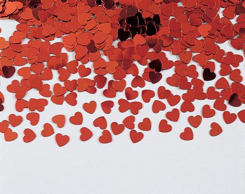 Valentine's Day Confetti - Red Hearts