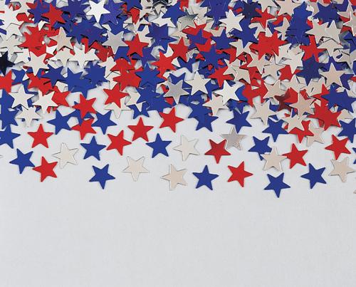 4th of July Confetti - Colored Stars