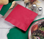 Red Beverage Napkins - 1 Ply