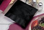 Black Beverage Napkins - 1 Ply