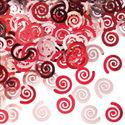 Classic Red Swirls Party Confetti