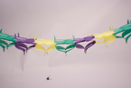 Fleurs De Lis Multicolored Paper Garlands - Mardi Gras