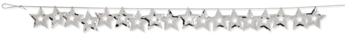 Silver Stars Confetti Garlands - Decorations