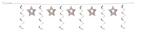 Silver Stars Dizzy Dangler Garlands