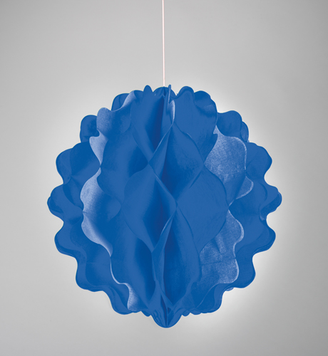 Paper Tissue Diecut Decor Balls - Blue