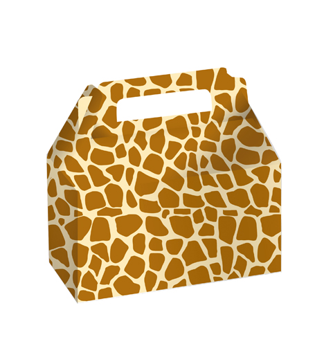 Giraffe Print Cookie and Candy Boxes