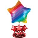 Rainbow Balloon Table Centerpieces