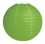 Citrus Green Round Paper Lanterns - 12 Inch