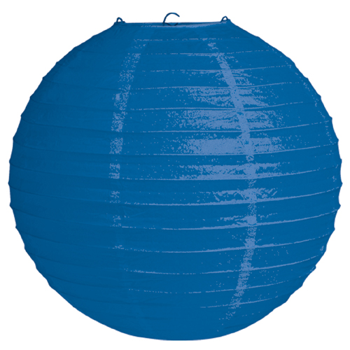 Blue Round Paper Lanterns - 12 Inches