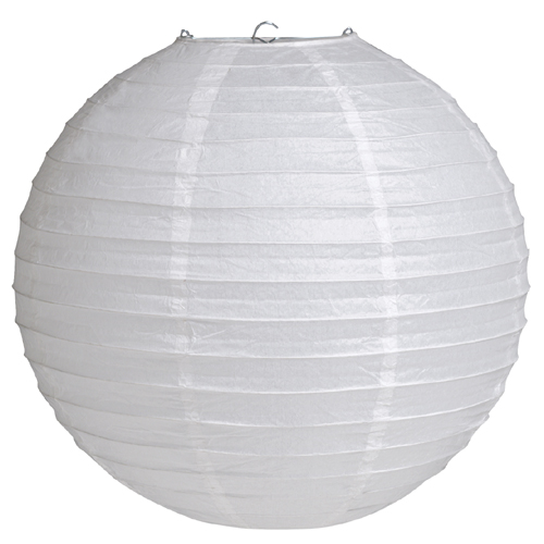 White Round Paper Lanterns - 12 Inches