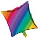 Rainbow Metallic Balloons