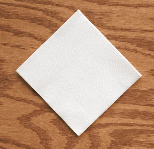 White Linen Like Paper Beverage Napkins - Premium Cocktail
