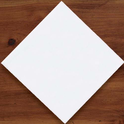 White Linen Like Beverage Napkins -  Premium Select
