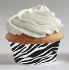 Zebra Print Mini Bake Cups