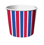 Fourth of July Paper Treat Boxes - Small
