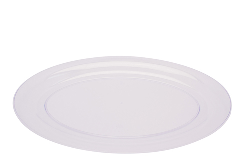 Oval Plastic Serving Trays - Clear