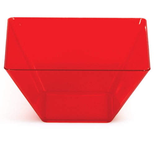 """Red Square Plastic Bowls - Small 3.5"""""""