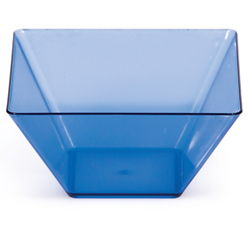 Blue Square Plastic Bowls - 3.5 Inch