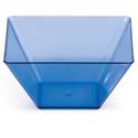 "Blue Square Plastic Bowls - Small 3.5"""