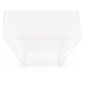 Clear Plastic Square Bowls - 3.5 Inches