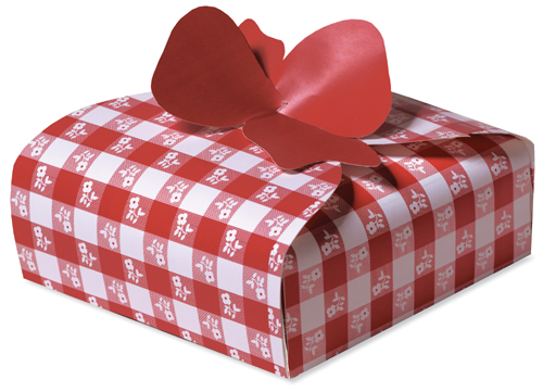 Red Gingham Pie Boxes