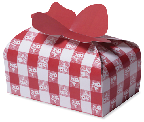 Red Gingham Cookie Boxes