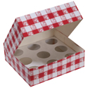 Red Gingham Cupcake Boxes