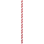 Red & White Striped Paper Party Straws