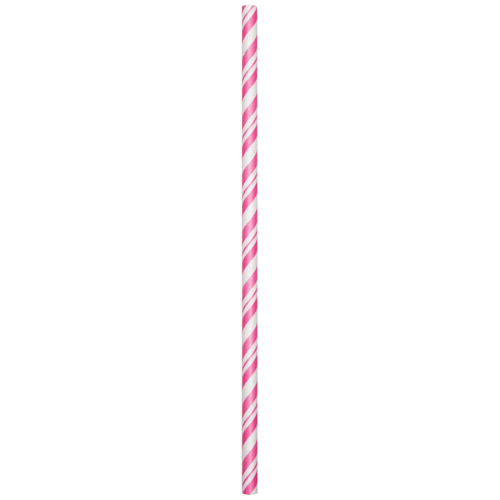 Candy Pink Stripe Paper Party Straws