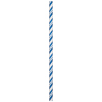 True Blue & White Striped Paper Party Straws
