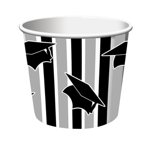 Graduation Striped Paper Treat Cups