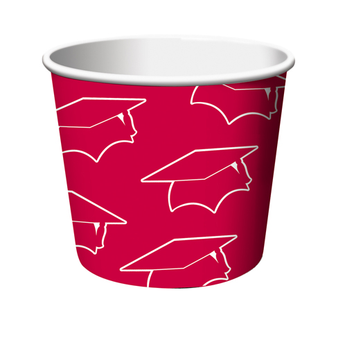 Red Graduation Paper Treat Cups