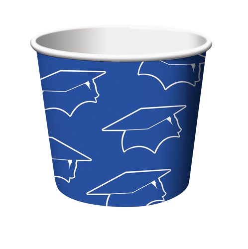 Blue Graduation Treat Cups