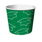 Green Graduation Paper Treat Cups