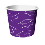Purple Graduation Paper Treat Cups