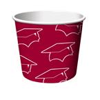 Burgundy Graduation Paper Treat Cups