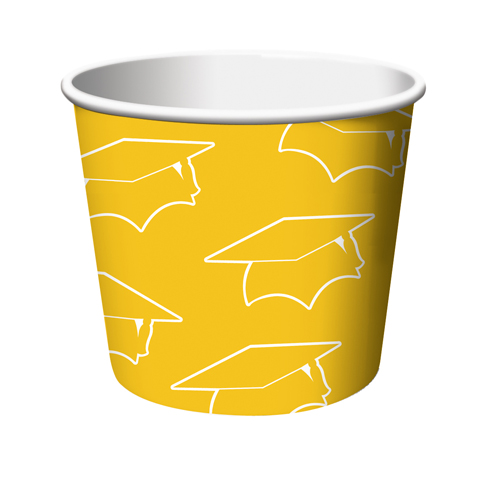 Yellow Graduation Paper Treat Cups