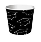 Black Graduation Paper Treat Cups
