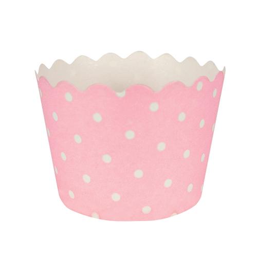Classic Pink Polka Dot Baking Cups