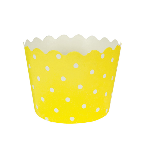 Yellow Polka Dot Treat Cups