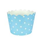 Pastel Blue Polka Dot Bake Cups