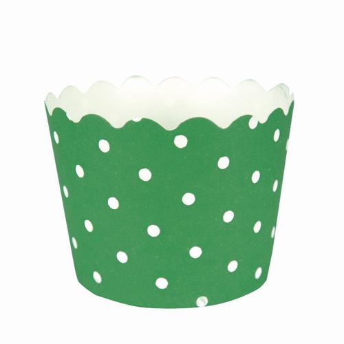 Green Polka Dot Treat Cups